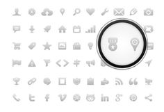 Icon Pack for Mobile #icon #design #icons #gray #graphics #web