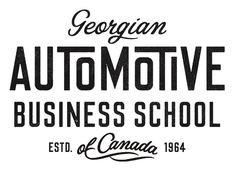 Georgian Automotive Business School by Simon Walker #type #typo #script #lettering #font #logo #brand #mark