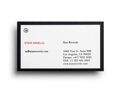 Logo and business card with white foil detail designed by Face for Steve Angello's independent record label Size #steve #white #business #card #label #size #angellos #independent #record #designed #logo #face #detail #foil
