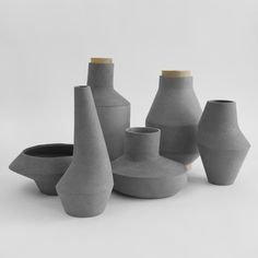 Kami pots by Ett La Benn [i like the shapes]
