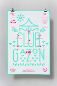 Club Gazon -www.supersuper.fr #gazon #france #design #graphic #grenoble #club