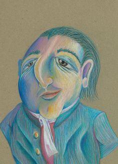 Pompous Harold, 11x14 edition print by Alex Felter