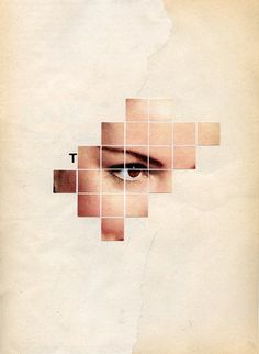 Anthony Gerace#art #portrait #squares #vintage #woman #eye