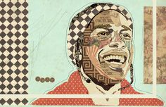 """Lord Pretty Flacko"" www.KyleMosher.com #kylemosher #newspaper #hiphop #illustration #portrait #vintage #art #rap"