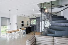 A Family Home with a Black & White Interior in main interior designCategory