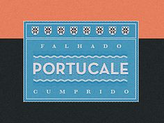 Portucale stamp #stamp #graphic #palette #portugal #royal #ornament #vintage #studio #portucale