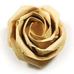 How to make a new Kawasaki rose origami flower (Angled Kawasaki Rose) (http://www.origami-flower.org/howto-origami-rose.php) #origami #rose