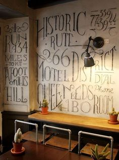 love the chalk #Office Design #Working Design #Working Decor| http://officedesignraina.blogspot.com
