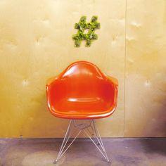 """Hashtag"" Garden #sculpture #eiffel #airplants #hashtaggarden #chair #base #succulents #eames #hashtag #art #artweheart #moss #green"