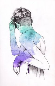 Lítill Blóm: illustration #sexy #hand #illustration #male #drawn #aquarell #fashion #drawing