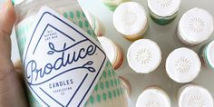 Produce Candles #label