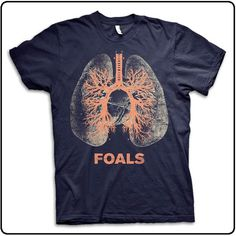 Foals - Lungs - Navy #tshirt