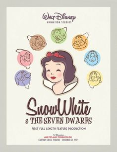Retro Snow White Poster | Flickr: Intercambio de fotos