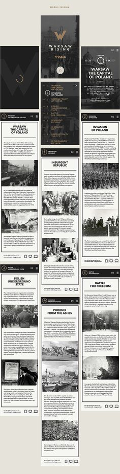Warsaw Rising on Behance #app #web design #layout