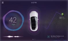 Car dashboard concept on Behance