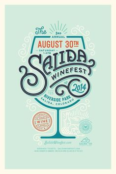 Salida Winefest #poster #illustration #wine #typography