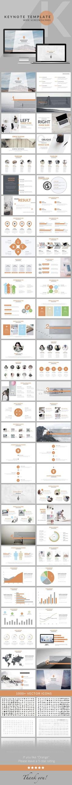 Orange - Clean trend business Keynote Template - Business Keynote Templates