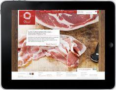 Olli Salumeria website #olli #food #salumeria #branding