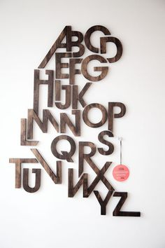 typography design via kitkadesigntoronto #alphabets #design #typography