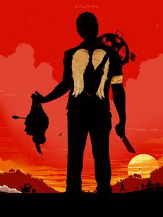 The Walking Dead In Daryl We Trust by BigBadRobot #man #silhouette #walking #dead #sunset