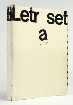 http://b-u-i-l-d.tumblr.com/post/4003216015 #cover #type #book #letraset