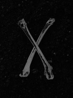 The Strange Attractor #bones #white #black #and