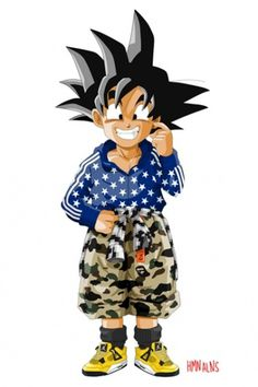 Dragon Ball Z x HMN ALNS | Hypebeast #dragon #ball #goten #manga #anime #fashion #collaboration #son