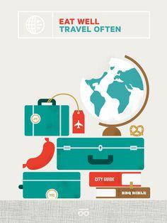 Eat Well, Travel Often #illustration