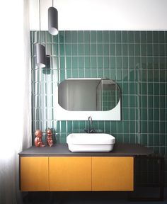 Colorful and Cozy Apartment in Turin - bathroom, bathroom design, bath, interior design, #bathroom