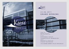 Francesco Vetica | Designer | Kusi #events #flyer #design #graphic #minimal #modernism #club