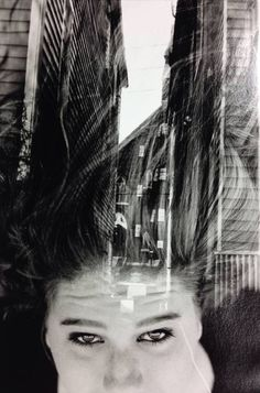 Stephanie Greene Photography #film #white #35mm #negatives #black #hair #and #sandwhiched #buildings