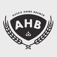 Aussie Homebrewer Logo #beer #black #austrailian #logo