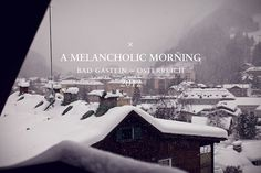 A Melancholic Morning on the Behance Network #photograph #typography
