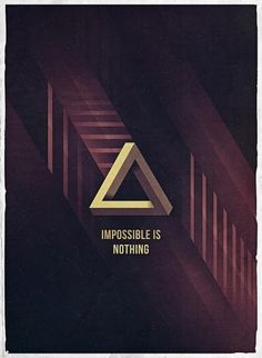 Impossible Is Nothing - Posters - Creattica #michael #schmid #poster #typography