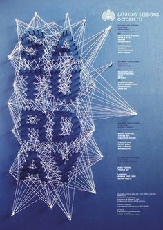 Ministry of Sound type #inspiration #lettering #poster #typography