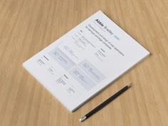 Free Minimal Resume Template for Sketch with Elegant Design