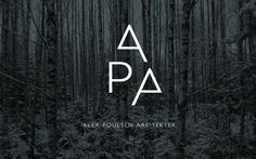 Alex Poulsen Architects on Behance #logo #dark #forest #trees #architects