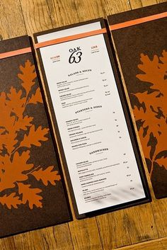 Oak 63 Menu | Flickr: Intercambio de fotos #identity