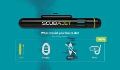 The SCUBAJET is a motorized engine that is designed to push any water sports utility in the water. It has wireless control and has up to 8 h