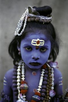 tribal #make #girl #photo #india #portrait #up #blue