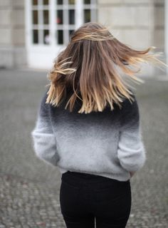 Girl #hair #back #girl #gradient