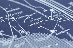 Map I – The Northern Sky #constellation #silkscreen #stellar #sky #northern #map