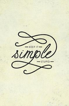 Keep it simple - Melissa Turi Lettering #simple #typography