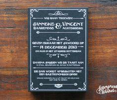Screen printed wedding invite by Letterpress Winkel