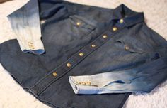 """DIY """"OMBRE DENIM SHIRT"""" #fashion #diy #style"""