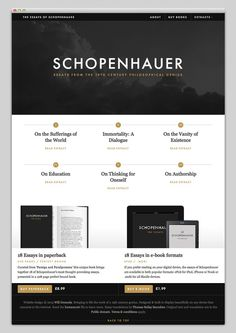 Essays of Schopenhauer #website #layout #design #web