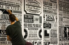 Alex Fowkes – Sony Music Timeline – Creativitea #creative #lettering #timeline #type #typography