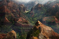 waimea canyon in Hawaii by Peter Clarke Photography Australia