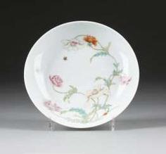 DISH WITH GARDEN SCENE #porcelain