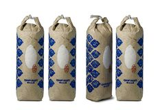 Ancient way of packaging rice in China #rice #packaging #print #design #china #traditional #ancient